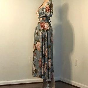 Floral KAREN ALEXANDER Vintage Full Circle Dress m